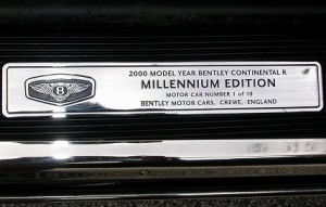 Bentley Continental R Millennium Tread Plate