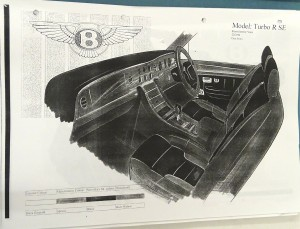 Bentley Turbo R SE Interior Sketch