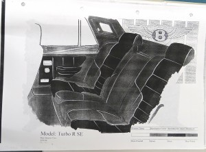 Bentley Turbo R SE Rear Interior Sketch