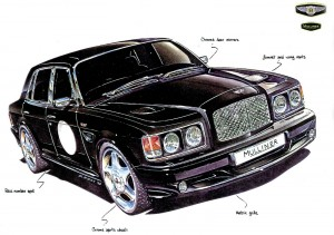 Bentley Turbo RT Mulliner Factory Sketch